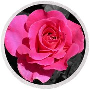 Perfect Pink Rose Round Beach Towel