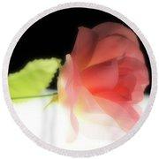 Pink Silk Rose Round Beach Towel