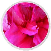 Pink Splash Round Beach Towel