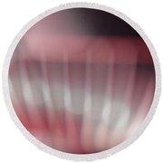 Pink Swirl Round Beach Towel by Allen Beilschmidt