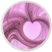 Pink Valentine Round Beach Towel