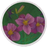 Pink Whispers Round Beach Towel