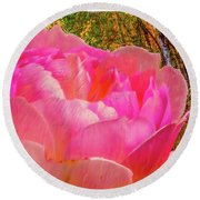 Pink Woods #e1 Round Beach Towel by Leif Sohlman