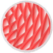 Pinked Round Beach Towel