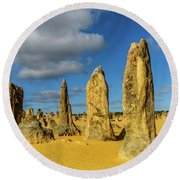 Pinnacles 6 Round Beach Towel