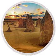 Pinnacles 8 Round Beach Towel