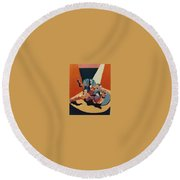 Pinned For The Win Round Beach Towel