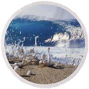 Pipe Foam Round Beach Towel