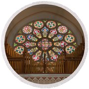 Pipe Organ - Church Round Beach Towel