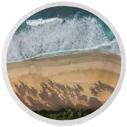 Pipeline Palms Round Beach Towel