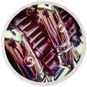 Round Beach Towel featuring the photograph Pipes by Samuel M Purvis III