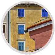Round Beach Towel featuring the photograph Piran Colors - Slovenia by Stuart Litoff