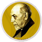 Round Beach Towel featuring the digital art Pirandello by Asok Mukhopadhyay