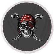 Skull 8 T-shirt Round Beach Towel