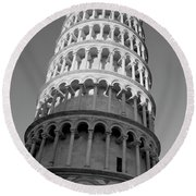 Pisa Tower Round Beach Towel