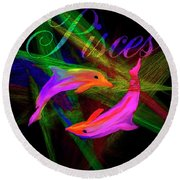 Pisces, By Sherr's Of Palm Springs Round Beach Towel