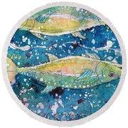Pisces Round Beach Towel
