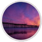 Round Beach Towel featuring the photograph Pismo's Palette by Sean Foster
