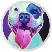 Pit Bull - Big Louie Round Beach Towel