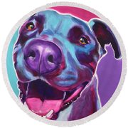 Pit Bull - Candy Round Beach Towel
