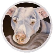 Pit Bull Lover Round Beach Towel