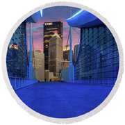 Pittsburgh In Blue  Round Beach Towel