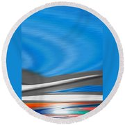 Round Beach Towel featuring the digital art Pittura Digital by Sheila Mcdonald