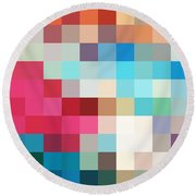 Pixel Art 2 Round Beach Towel