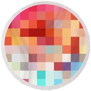 Pixel Art 4 Round Beach Towel