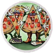 Pizza Party Round Beach Towel