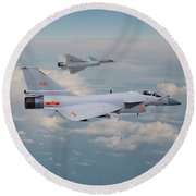 Round Beach Towel featuring the photograph Plaaf J10 - Vigorous Dragon by Pat Speirs