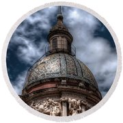 Place Of Worship Round Beach Towel