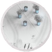 Place Settings Round Beach Towel