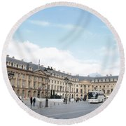 Round Beach Towel featuring the photograph Place Vendome by Christopher Kirby