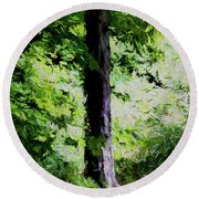 Places Of Peace Round Beach Towel by Aliceann Carlton