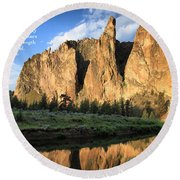 Round Beach Towel featuring the photograph Places To Pray And Play In by Lynn Hopwood
