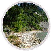 Arene Beach Of Cassis Round Beach Towel