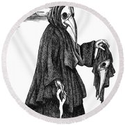 Plague Doctor Round Beach Towel