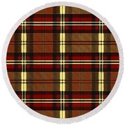 Plaid Round Beach Towel