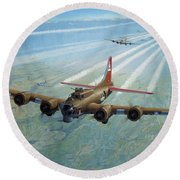 Plane Round Beach Towel