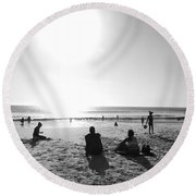 Round Beach Towel featuring the photograph Summer Planet by Beto Machado