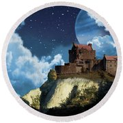 Planet Castle Round Beach Towel
