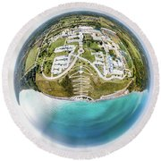 Round Beach Towel featuring the photograph Planet Concordia by Randy Scherkenbach