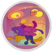 Planet Dancers Round Beach Towel