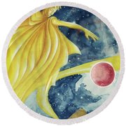 Planet  Dreaming Round Beach Towel