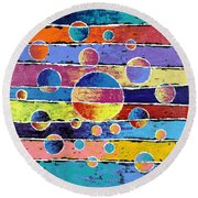 Planet System Round Beach Towel
