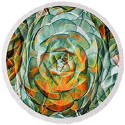 Round Beach Towel featuring the photograph Plant Abstract by Wayne Sherriff