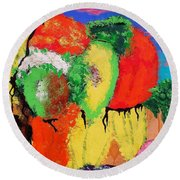 Plant Food Still Life Round Beach Towel
