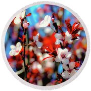 Plants And Flowers Round Beach Towel