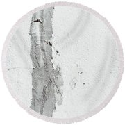 Plaster On A Wall Round Beach Towel